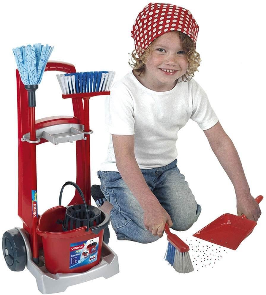 Carro de limpieza Vileda para niños