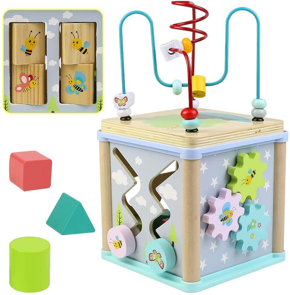 cubo de actividades Montessori