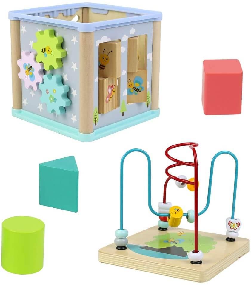 cubo de actividades Montessori desmontable