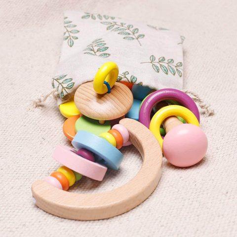 Sonajero Montessori de colores